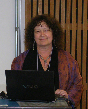 Photo of Ronaye at the 2009 International  Cohousing Summit